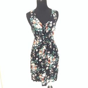 BAND OF GYPSIES FLORAL LACE UP DRESS SIZE MEDIUM
